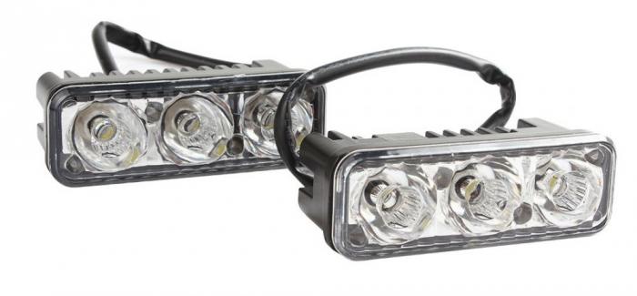 Lumini de zi DRL 3 led*3W 12V-24V Epistar [1]