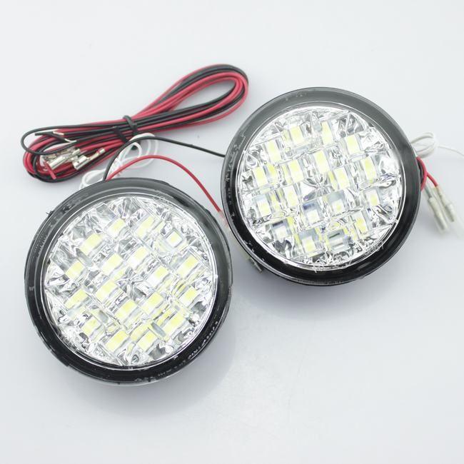 Lumini de zi rotunde 18 led*0,5W 12V - Off when headlight on [1]