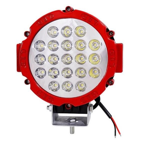 Proiector LED Auto Offroad 63W/12V-24V, 4410 LM, Rosu, Spot Beam 30 Grade [0]
