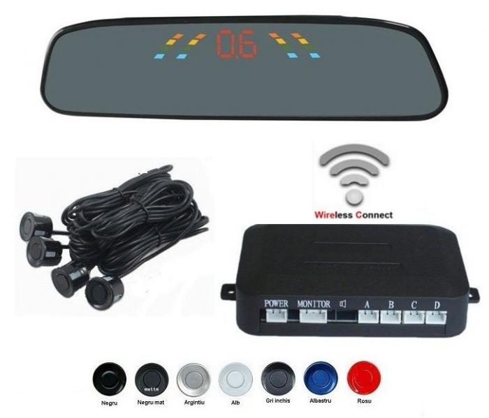 Senzori parcare cu display in oglinda wireless S306W [0]