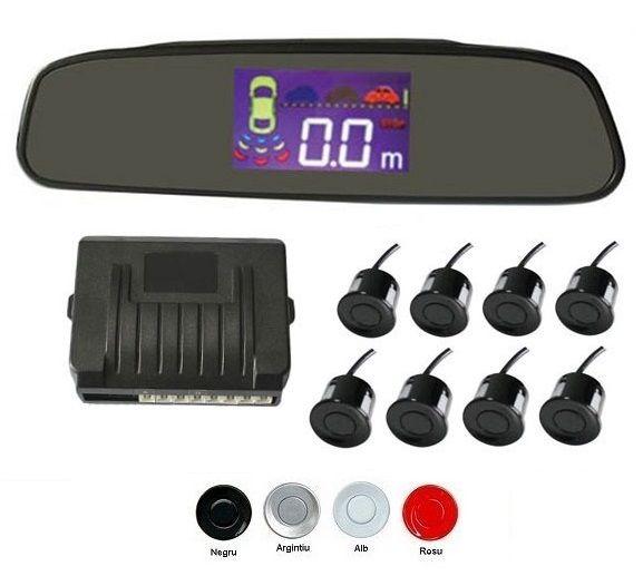 Senzori parcare fata spate cu 8 senzori cu display in oglinda S502-8 [0]