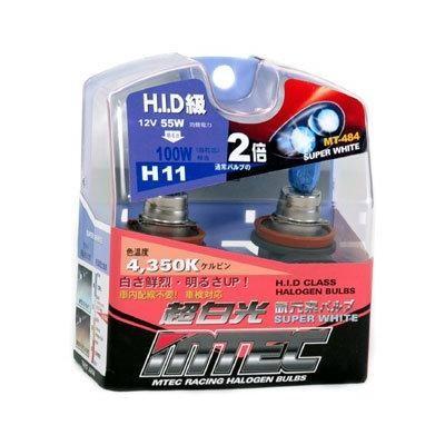 SET 2 BECURI AUTO H11 MTEC SUPER WHITE - XENON EFFECT [1]