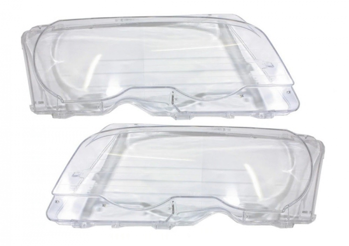Set 2 sticle faruri pentru BMW Seria 3 E46 Coupe / Cabrio Non Facelift (1998 - 2003) - HB010 [0]