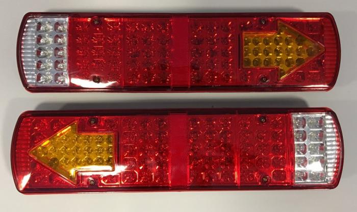 Set 2 Stopuri LED camion 24V cu 5 functii #050 [0]