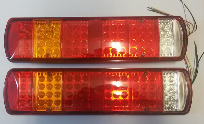 Set 2 Stopuri LED camion 24V cu 5 functii 051-24V [0]