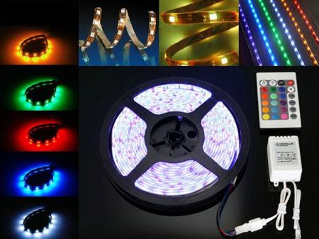 Banda led RGB siliconica 60 SMD-uri 5050/metru cu telecomanda [0]