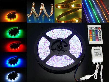 Banda led RGB siliconica 60 SMD-uri 5050/metru cu telecomanda [1]