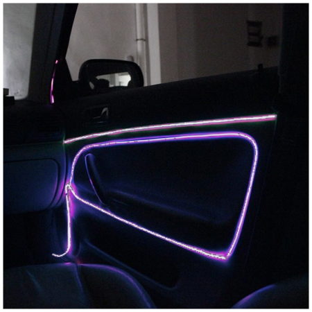 Fir cu lumina ambientala pentru auto - 2 m - alb [2]