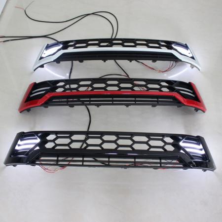 Grila fata cu lumini de zi DRL negru cu rosu TRD Toyota Hilux Revo 2015, 2016, 2017, 2018, 2019 THR15FGL [0]