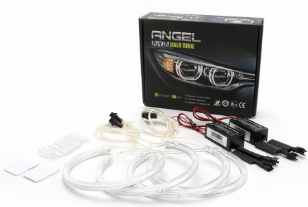 Kit Angel Eyes CCFL BMW E46 Coupe/Cabrio Cu Facelift, far cu lupa - 4*106mm [0]