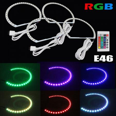 Kit Angel Eyes LED SMD BMW E46 RGB cu 16 culori cu telecomanda [0]