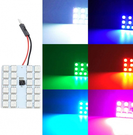 Lampa colorata cu telecomanda 24 LED [7]