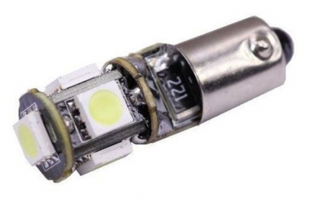 Led auto BAX9S Canbus cu 5 SMD [0]