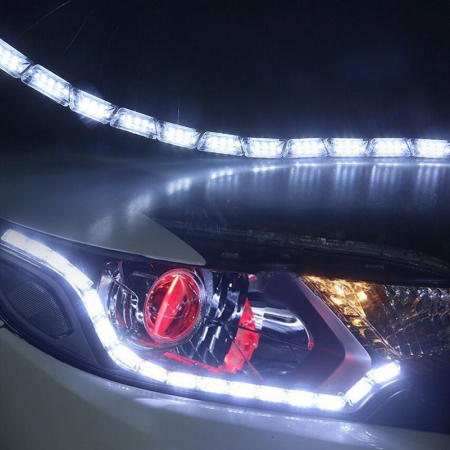 Lumini de zi flexibile cu semnalizare progresiva, dinamica (tip Audi) cu 16 module efect Matrix flow [1]