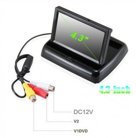 "Senzori parcare cu camera video si display LCD de 4.3"" pliabil S612-P [1]"