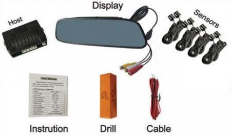 Senzori parcare fata spate cu 8 senzori cu display in oglinda S502-8 [1]