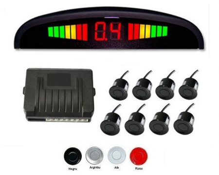 Senzori parcare fata spate cu 8 senzori si display LED S300-8 [0]