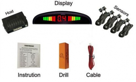 Senzori parcare fata spate cu 8 senzori si display LED S300-8 [1]