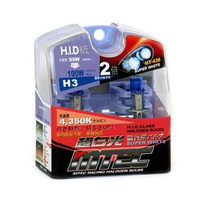 SET 2 BECURI AUTO H3 MTEC SUPER WHITE - XENON EFFECT [0]