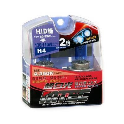 SET 2 BECURI AUTO H4 MTEC SUPER WHITE - XENON EFFECT [0]