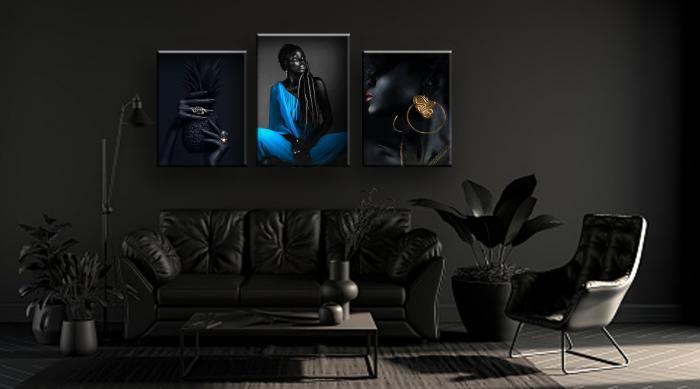 Tablou Canvas Black and Black [0]