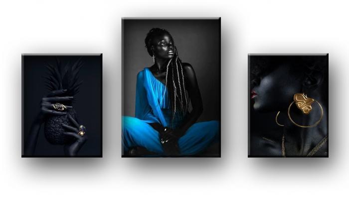 Tablou Canvas Black and Black [1]