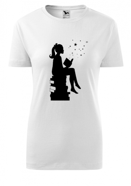 Tricou dama print Hobby Lectura 0