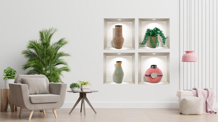 Sticker Decorativ 3D Plante si Obiecte [0]
