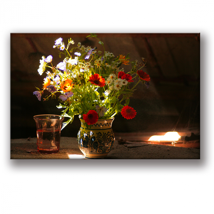 Tablou Canvas Flori in Lumina de Toamna [1]