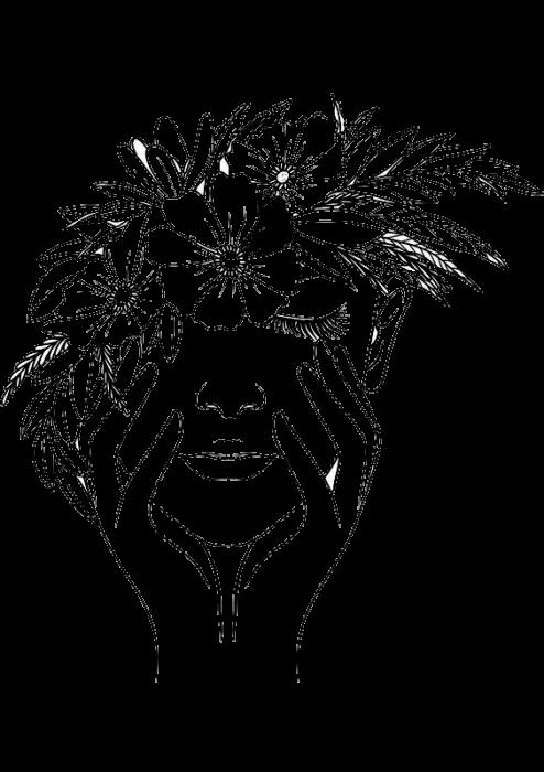 Tricou Print desen Chip Fata cu Flori [1]