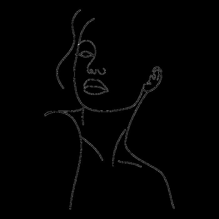 Tricou Print Chip de Fata Abstract [1]