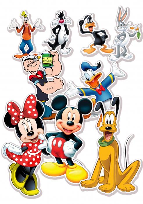 Stickere Decorative Personaje Desene Animate [0]