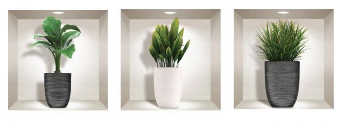 Sticker Decorativ 3D Plante [1]