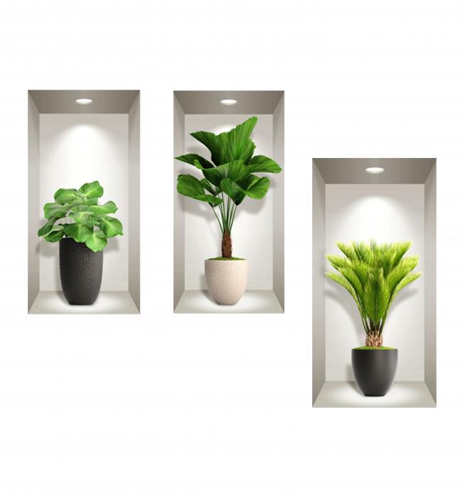 Sticker decorativ 3D Exotic Plants [1]