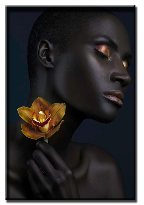 Tablou Black and Gold Woman [1]