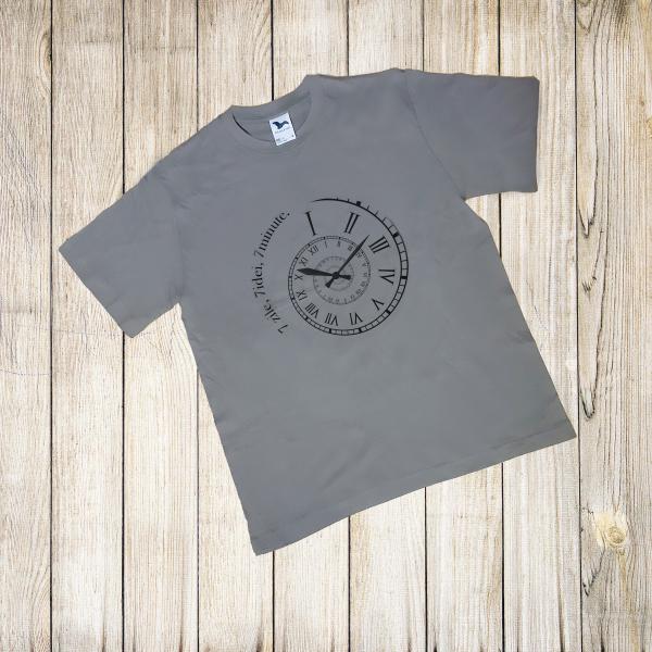 Tricou bărbaţi , print ceas 7 zile, 7 ideii, 7 minute [0]