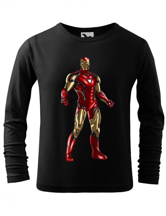 Tricou Copii maneca lunga print Iron Man 0