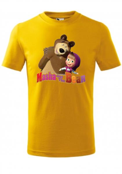 Tricou copii, print Masha si Ursul Bumbac 100% - Malfini [0]