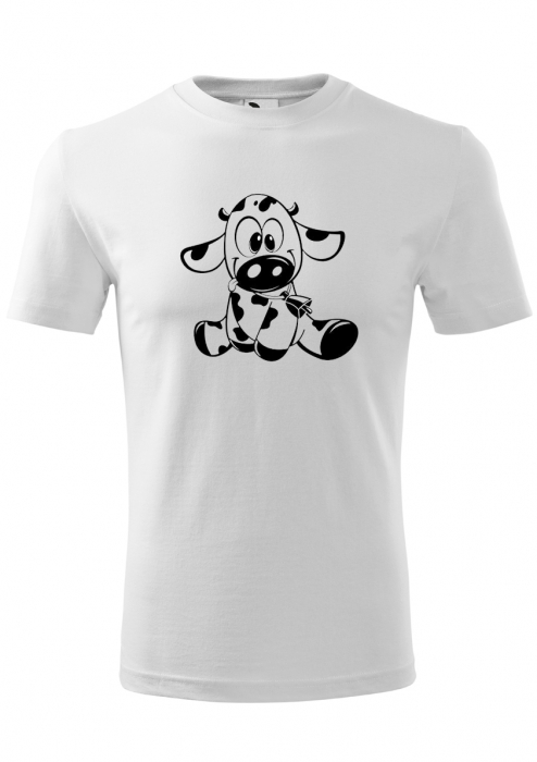 Tricou Copii print Vacuta curioasa 0