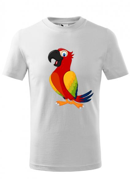 Tricou Copii, print papagal vesel 0