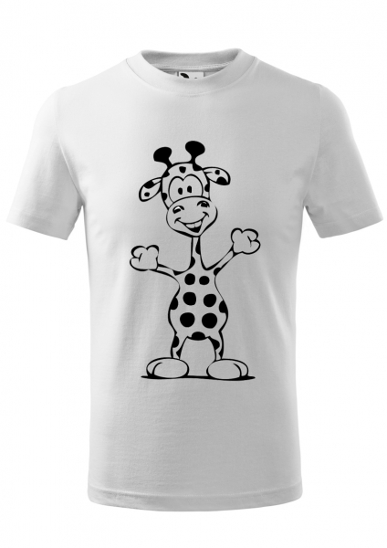 Tricou Copii, print girafa vesela 0