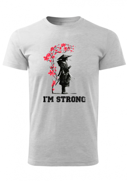 Tricou Barbat print I'M STRONG 0
