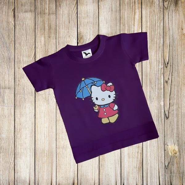 Tricou copii, print hello kitty Bumbac 100% 0
