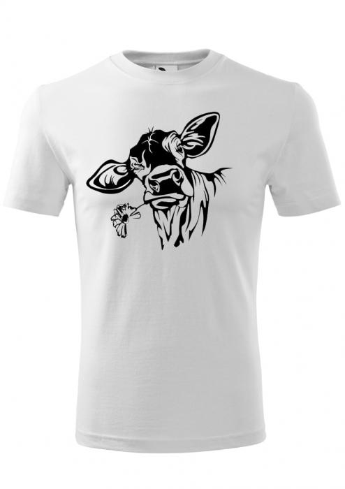 Tricou barbati print Vaca Curioasa 0
