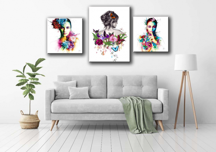 Tablou Canvas Print Fete cu Flori [0]