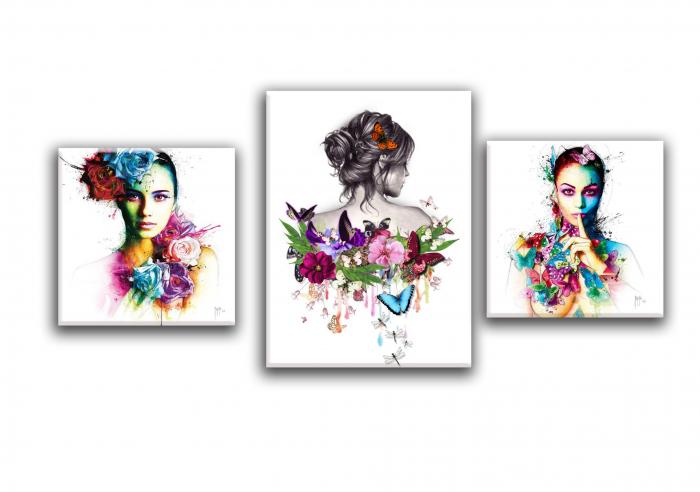 Tablou Canvas Print Fete cu Flori [1]