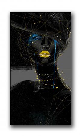 Tablou Canvas Chip Femeie Abstract [1]