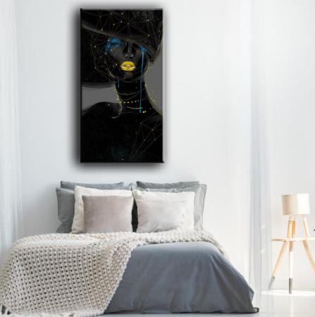 Tablou Canvas Chip Femeie Abstract [0]