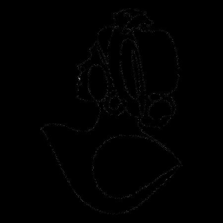 Tablou print desen linii chip femeie [1]