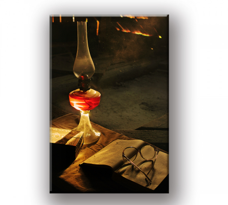 Tablou Canvas Print Lampa cu Caciula [1]